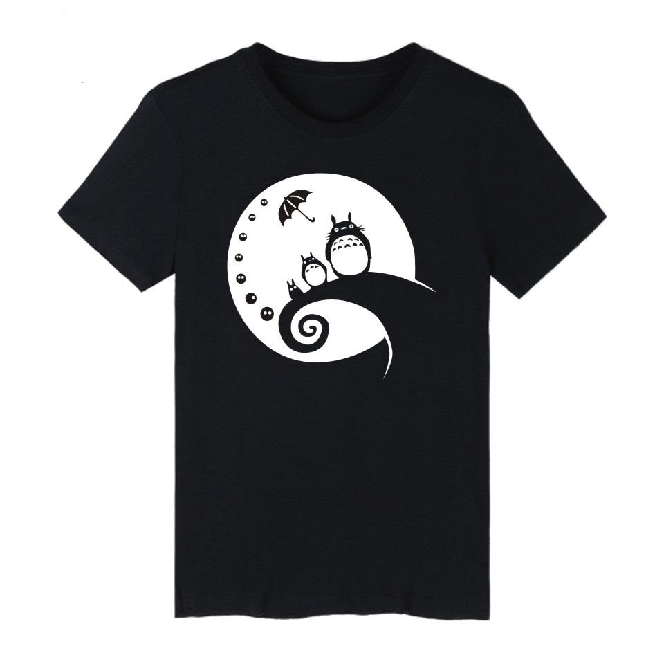 0782ae921e44d My Neighbor Totoro Tshirts Cotton Kawaii Tee Shirt Cute Summer Short Sleeve T  Shirt Hayao Miyazaki Studio Ghibli Totor Black 4XL Awesome Shirts For Men  The ...
