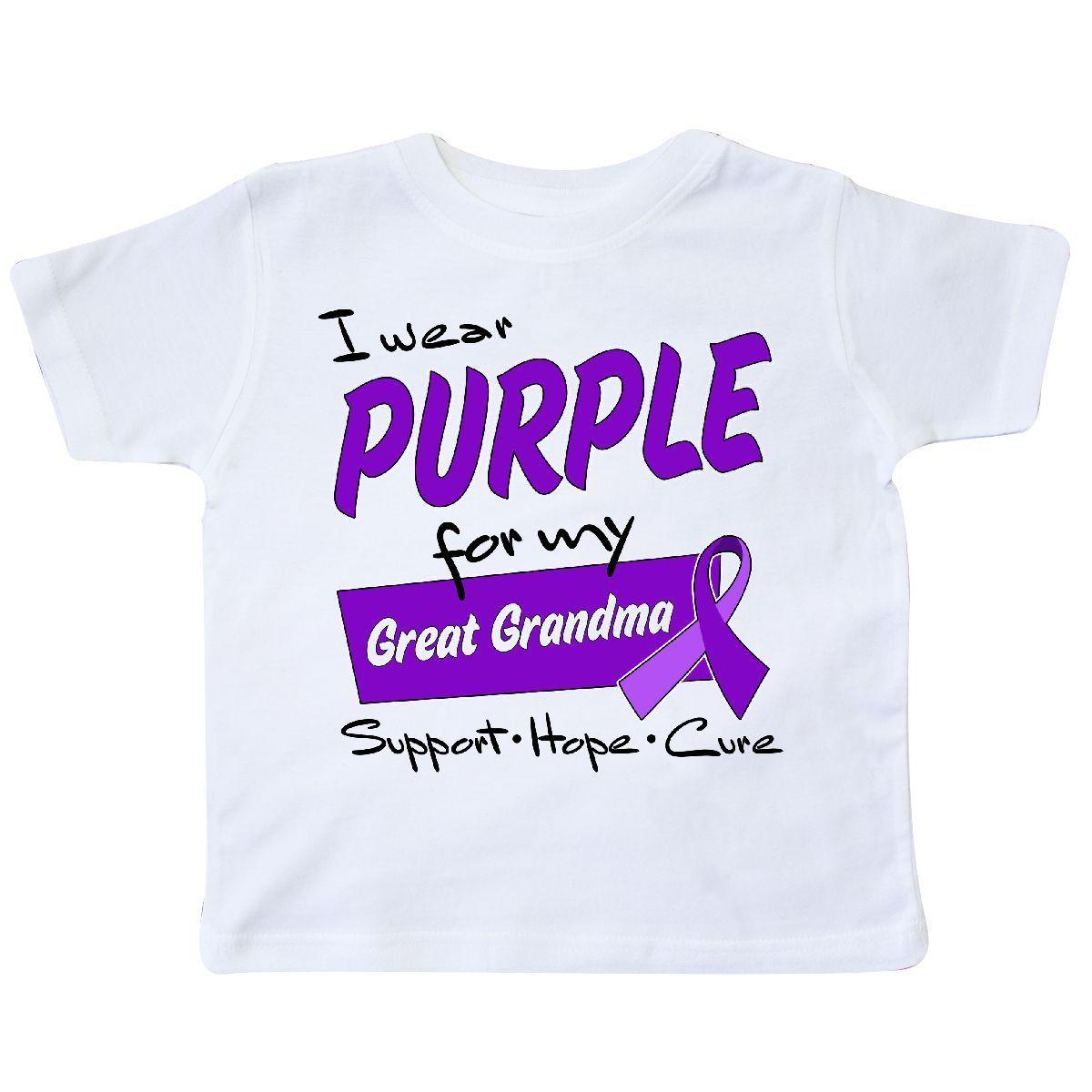 Inktastic I Wear Purple For My Great Grandma Support Hope Cure