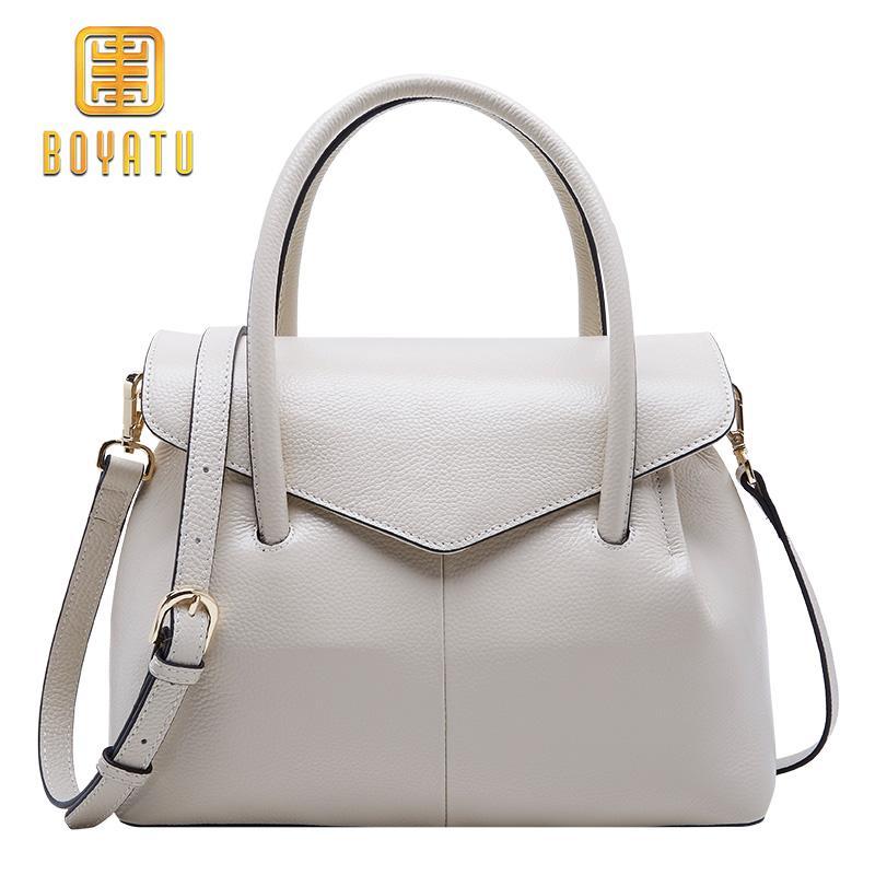 60a2e5851763 BOYATU Genuine Leather Shoulder Bags Female Luxury Handbags Women Bags  Designer 2018 High Quality Ladies Brand Top Handle Party Fashion Bags  Leather Bags ...