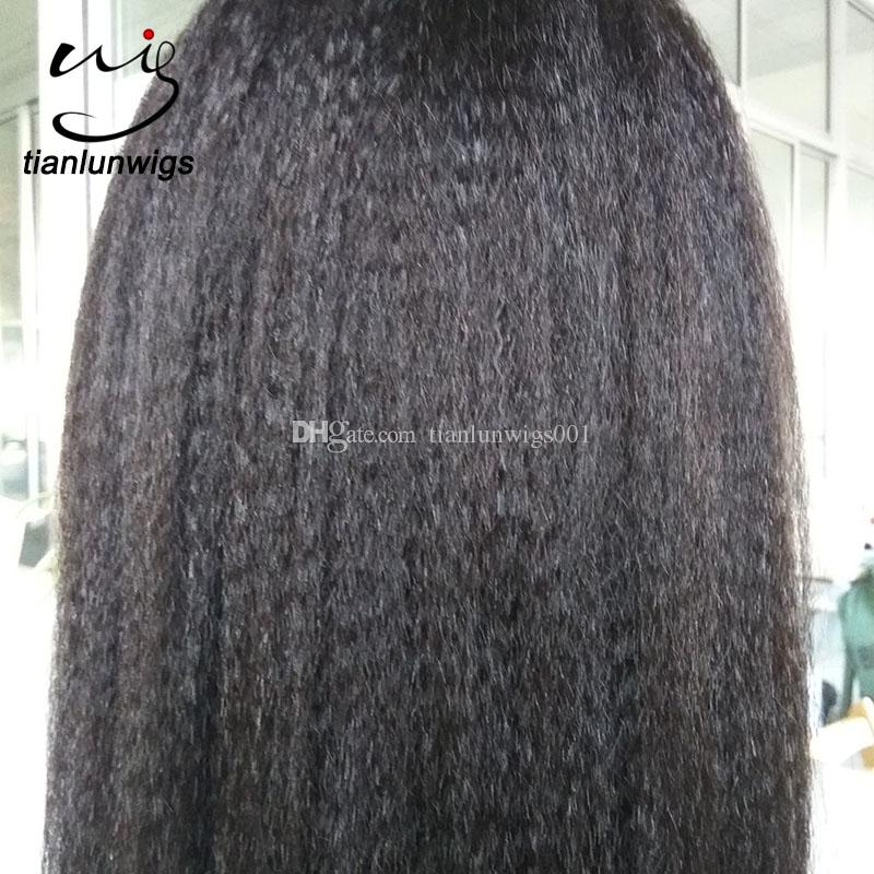 fast delivery kinky straight women wigs hair full lace wig for African women, lace wig human hair kinky hair lace wigs in stock
