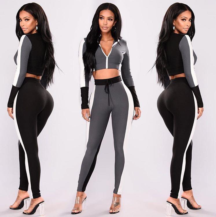 13852063a0 2019 Sport Leisure Suit New Winter Sweater Dress Suits Fashion Spring Women  Pink Tracksuits Casual Short Sleeve Two Piece Jogger Set From Peisi
