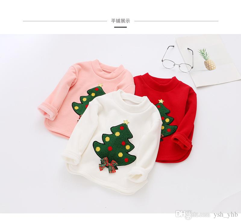 e297f61e6865 Kids Christmas Tree Sweatshirt Cotton Children Girls Tops Long ...
