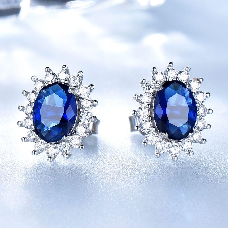 Grosshandel Luxus 925 Sterling Silber Ohrringe 6 8mm Erstellt