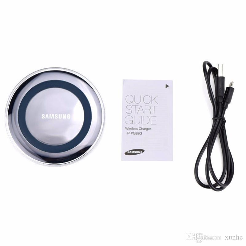 High Quality Universal Qi Wireless Charger For Samsung Note8 Galaxy s7 s8 iphone X 8 mobile pad with retail package usb cable