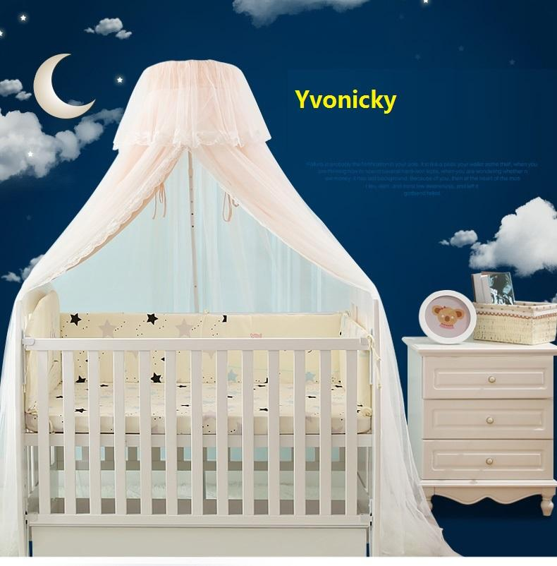 2 Layers Baby Crib Mosquito Net Infants Shading Chiffon Bed Canopy Boy Girl 4 Seasons Summer Round Netting Protector Bed Mantle Patio Mosquito Net Best ... & 2 Layers Baby Crib Mosquito Net Infants Shading Chiffon Bed Canopy ...