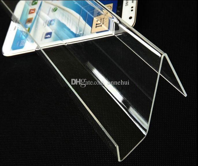 Long Shelf Acrylic Mobile Cell Phone display stand digital products purse Cosmetic holder Universal Mobile Phones display rack