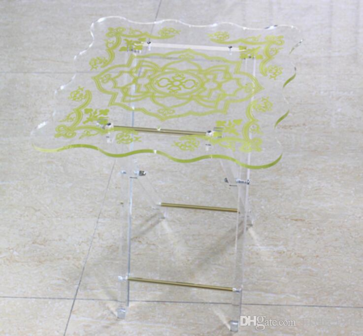 Wholesale factory price custom mini clear glass acrylic coffee table acrylic furniture display for home decoration