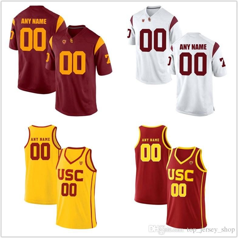 db38561c046 2019 2018 Men Custom Made USC Trojans College Football Jerseys NCAA Carson  Palmer Customized Red White Black Stitched Basketball Jerseys From ...