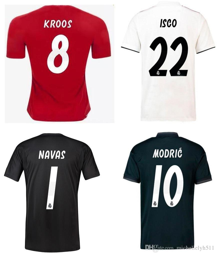 8ced9f65519 ... home white away black b2060 02fd2; reduced 2018 18 19 real madrid  soccer jersey bale ronaldo kroos modric asensio ramos marcelo football