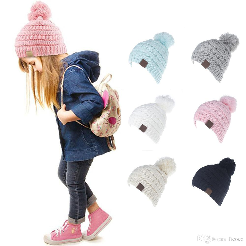 Lovely C Label Icon 6 Candy Colors Pom Pom Kids Brand Hats Beanies Fitted  Hat Luxury Polo Hats Baby Warmer Skull Caps Stetson Hats Trilby From Ficoco 31ef9d7ba476