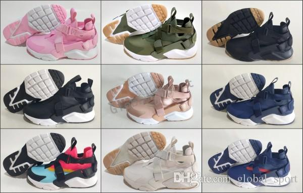 6c10cd7c577 New Air Huarache 5 5s Running Shoes For Men Women Gold High Quality  Sneakers Triple Huaraches Trainers huraches Baby Kids Athletic Shoes