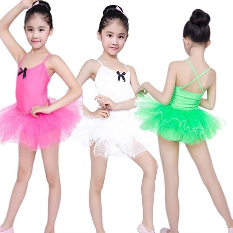 39a6ec034e Compre Enfant Niño Bailarina Vestido Tutu Tirantes Chica Leotardo Gimnasia  Ballet Ropa Niños Justaucorps Baile Body Uniformes A  34.11 Del Ritalei
