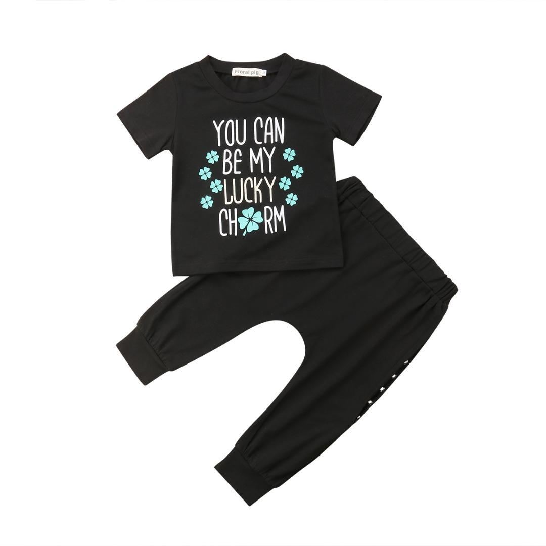 75a5674ac6e2 Fashion Toddler Kids Baby Boys Clothes Cotton Letter Tops T Shirt ...