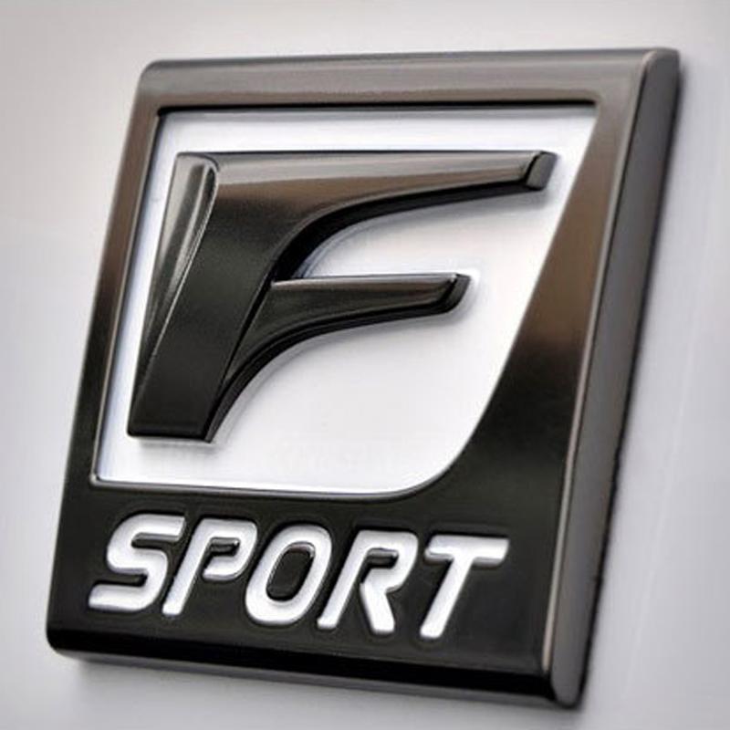 2019 3d Metal F Sport Car Stickers Logo Emblem Badge Decals Car