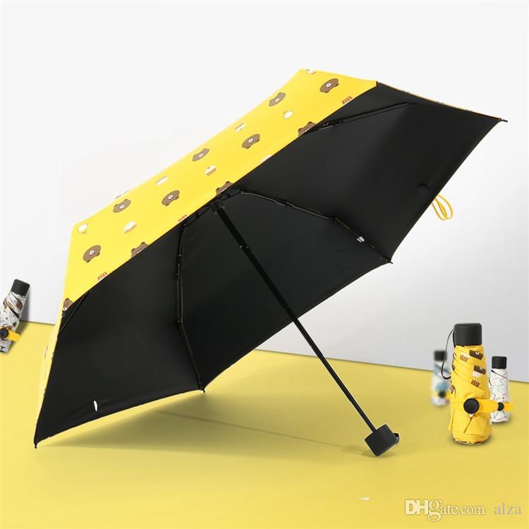 0f5807f7ab82 Mini Pocket Umbrella 5 Folding Umbrella Compact Windproof Umbrella Travel  Parasol Super Light Portable Umbrellas Sunshade 7 Color FFM
