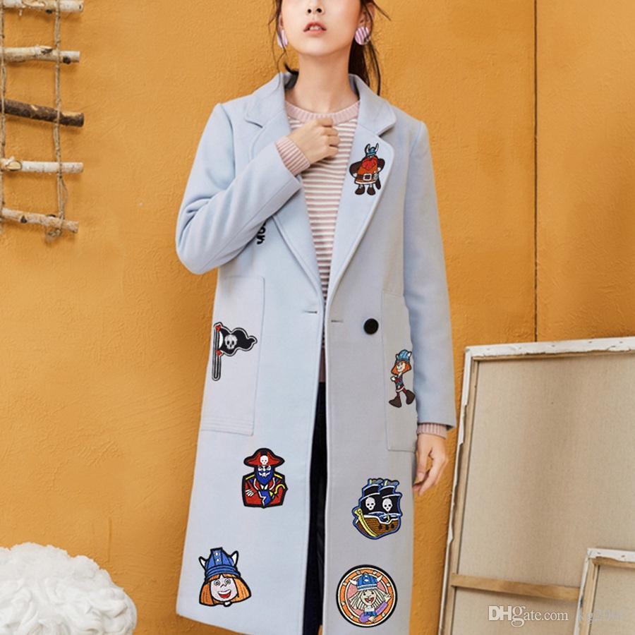 Buccaneer Tecidos Distintivos Vestuário Acessórios Patches para cola bordados Vestuário Patches para Traje ferro em transferência Applique Patch de