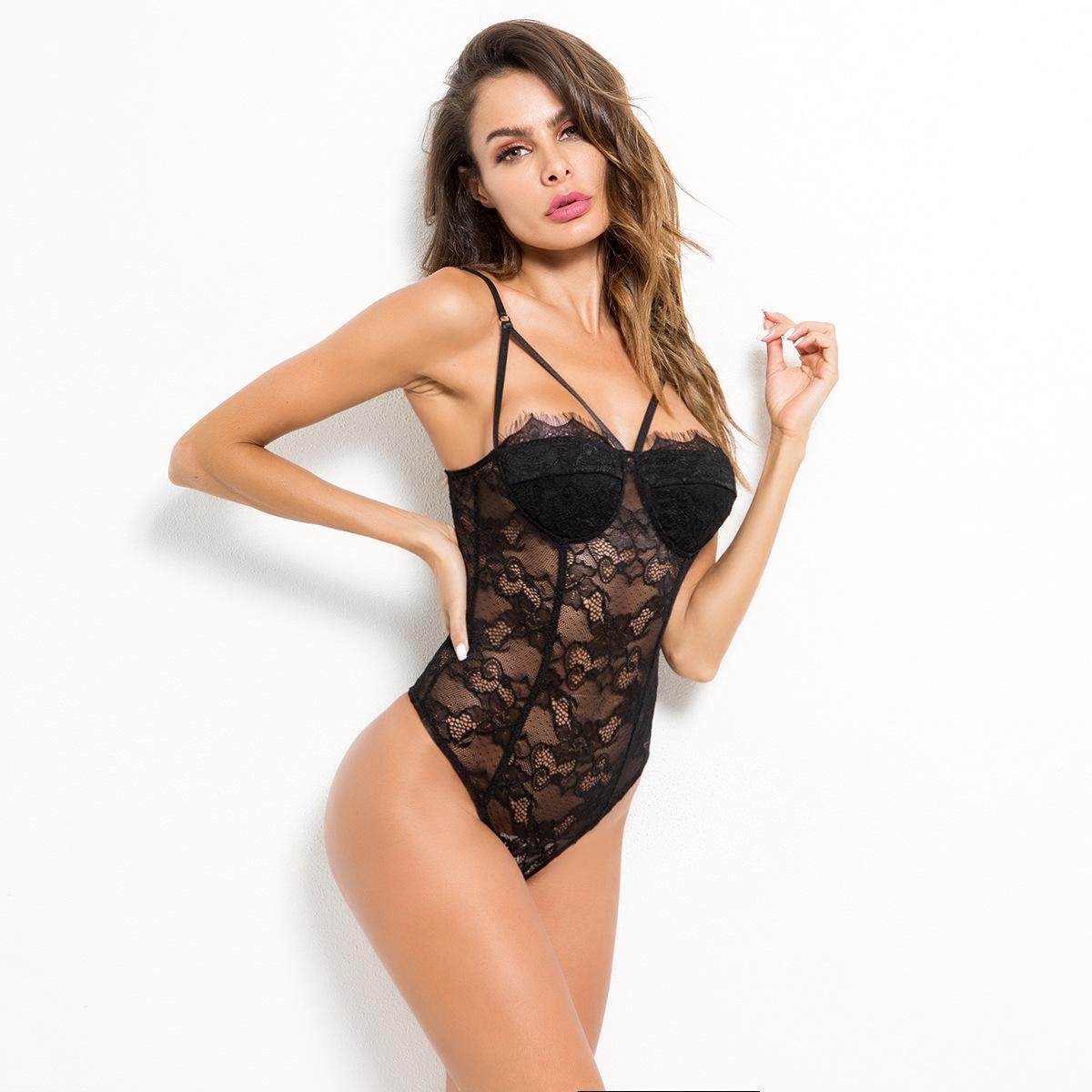 4b37e5d9dab Rebella 2018 Foreign Trade European And American Women SEXY Sexy Lingerie  Lace Temptation Perspective Conjoined Clothing In Stock Lingerie Set Sexy  Corsets ...