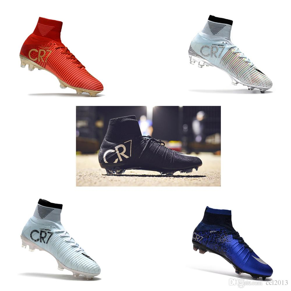 discount comfortable outlet authentic 2018 Original Mens Mercurial Superfly Ronaldo Exclusive Black CR7 FG Football Boots Training Sneakers Cleats Size 39-45 AVkiq