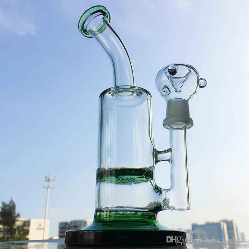 Tornado Bong Honeycomb Bong Turbine Pecolator Bong Disc Perc Dab Rig with 18.8mm Male Joint New Arrivals WP320