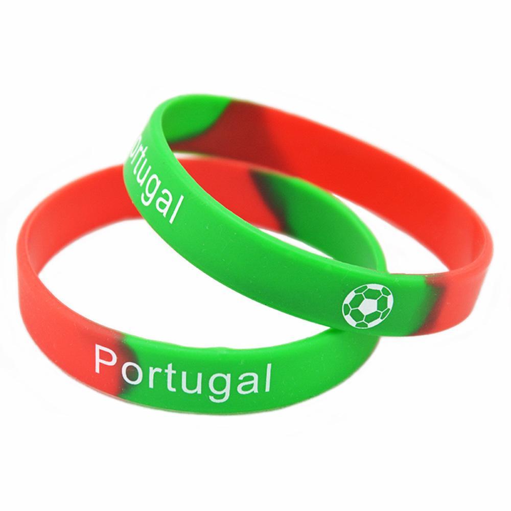 a0f825f75766 Compre OneBnadaHouse Impreso Logo Pulsera De Silicona Equipo De Fútbol  Francia Brasil España Y Portugal A  22.68 Del Qiugaoliang