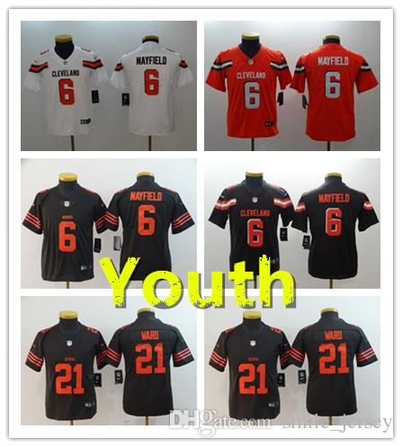 2019 New Youth 6 Brian Hoyer Cleveland Jersey Browns Kids Football ... 2335e7fcb