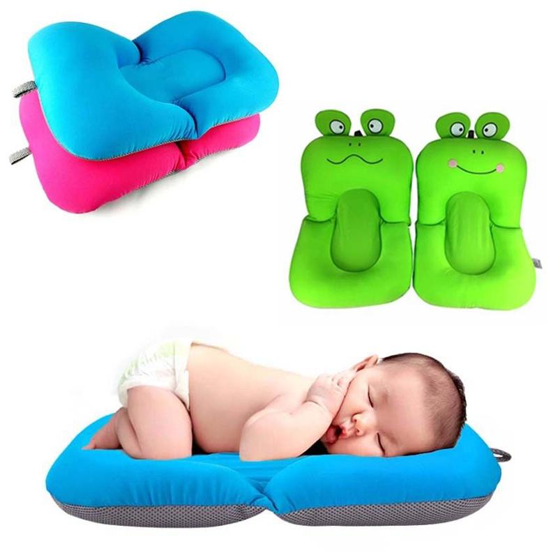 Infant Newborn Baby Bath Tub Pillow Pad Lounger Air Cushion Floating ...