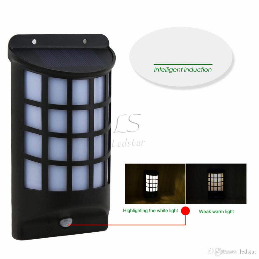 IP65 Waterproof LED Security Solar Powered Light PIR Motion Sensor Light Wall Lamp for Path Stairs Garden Outdoor Lighting