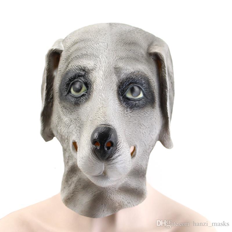 schön und charmant Sortendesign Wert für Geld Hanzi_masks Hund Maske Halloween Masken Vollgesichts Latex Maske Shar Pei  Haube Für Halloween Party Masken