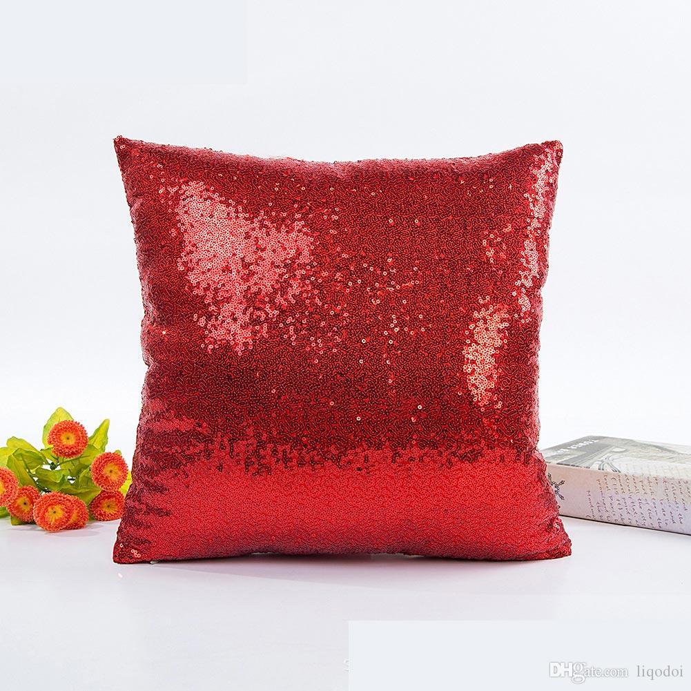 Sirène Paillettes Sequins Pillow Cover Cas Maison Voiture Canapé Housses De Coussin Decor UK