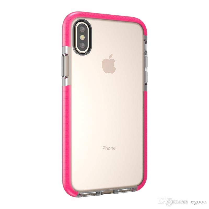 S9 s9 plus dual color clear case transparente ultra fino de cristal tampa do telefone de volta para iphone x xs xr max 8 7 6 plus samsung s8 s9 além de