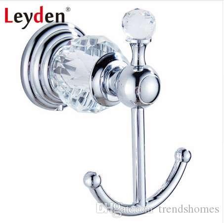 Leyden Luxus Badezimmer Zubehör Kleidung Haken Kristall Kleiderhaken Silber  Wand Europäischen Handtuch Haken Badezimmer Hardware