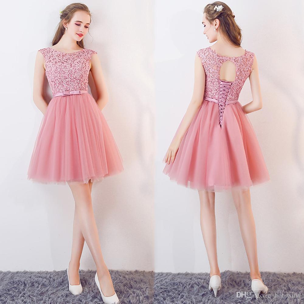 Compre $ 55 Envío Gratis Vestidos Largos De Regreso A La Rodilla En ...