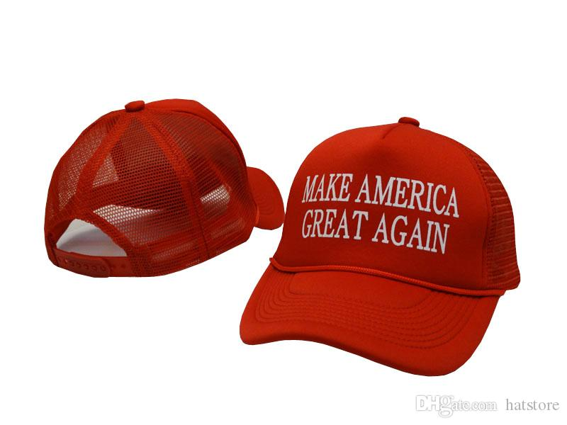 a01ced7484cdb Trump Make America Great Again Trucker Mesh Hats 2018 Red Quality Embroided Adjustable  Baseball Cap Summer Hat For Men Women Peaked Caps Hats For Men ...