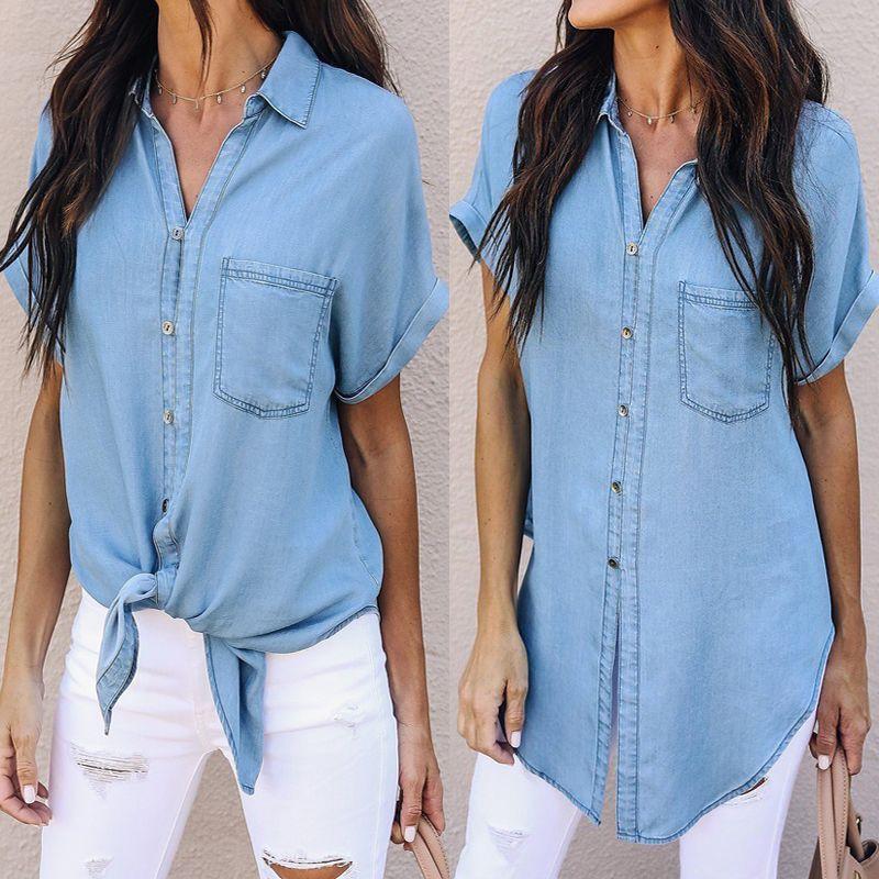 9eb5ae6bb0a femmes-t-blouse-r-tro-denim-top-button-manches.jpg