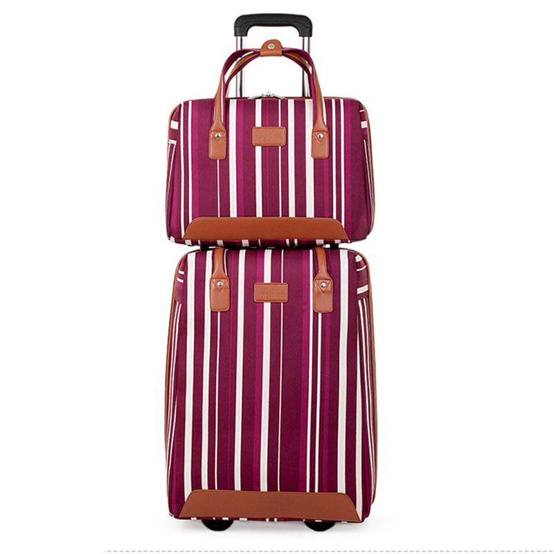 cc81f74ad9bb Stripe Oxford Rolling Luggage Set Spinner Multifunction Suitcase Wheels 20  Inch Cabin Trolley Laptop Travel Bag Suitcases Cheap Suitcases Stripe  Oxford ...