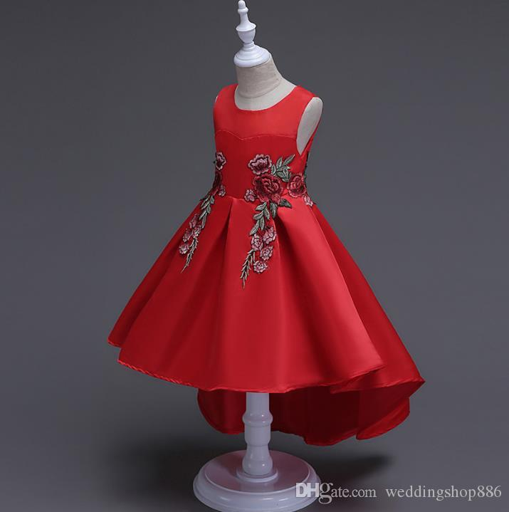 Cheap Bubble Baby Girl Dresses Discount Red Fluffy Flower Girl Dresses d597834968f4