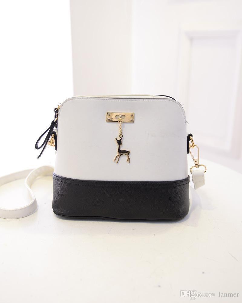 15dc086e9bfb Wholesale- 2017 Women s Messenger Bags Fashion Vintage Small Shell ...