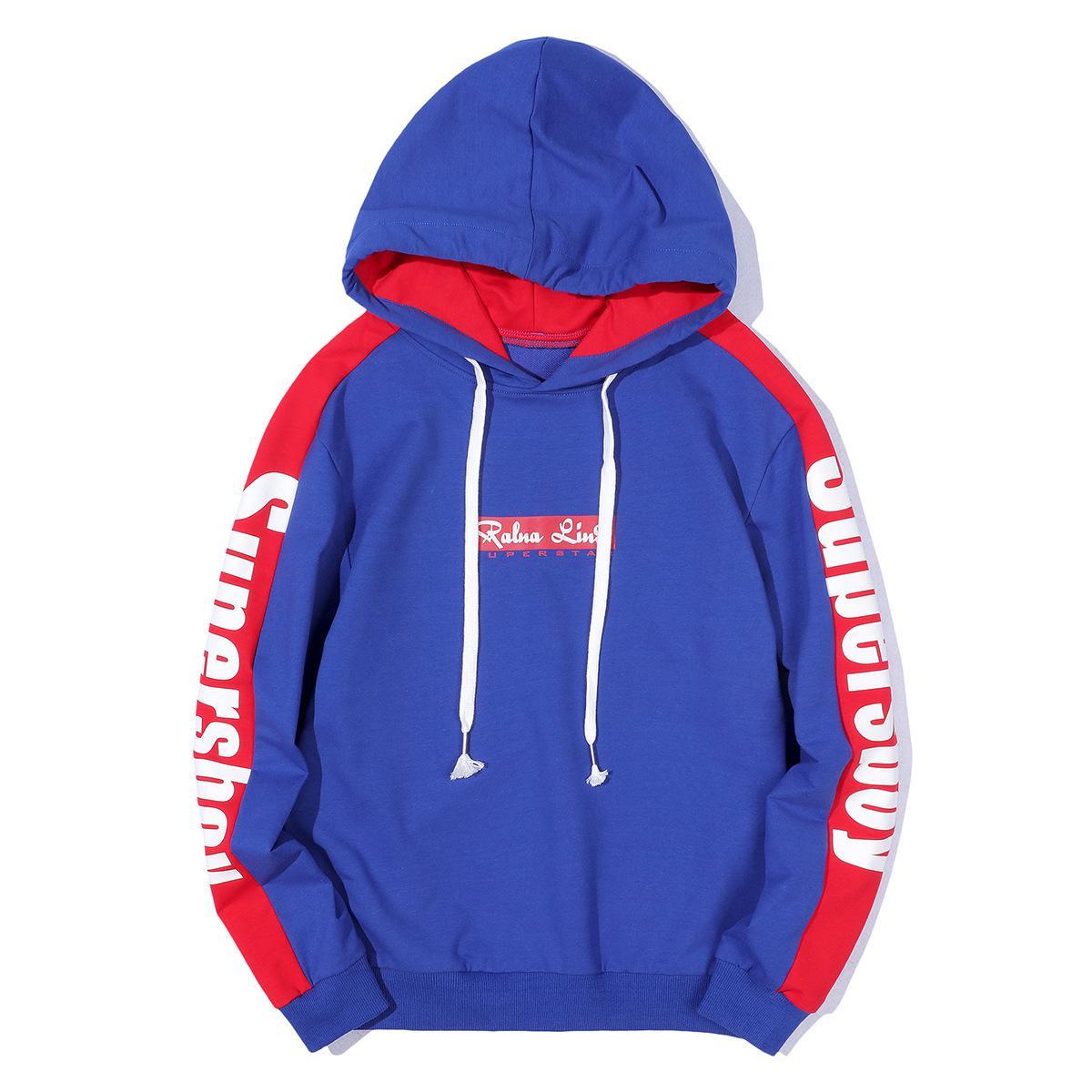 4600a2df43079 Designer Hoodies Winter New Sweater Men's Head Color Matching Hip Hop  Hooded Baseball Uniform Long Sleeve Men's Sweater