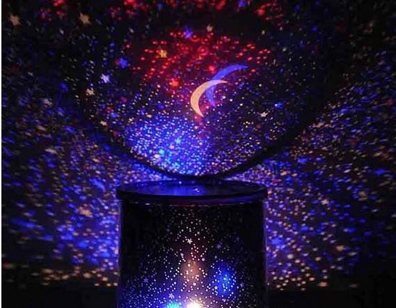 النجم العارض مصباح الدورية الموسيقى الصمام النجم العراقي العارض ملون ضوء الليل النوم مصباح الهدايا الإبداعية