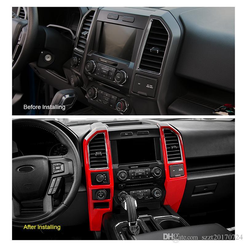 Ford F150 2015+ Araba Styling Merkez kontrolde Klima Çıkışı Vent Kapak Trim Çerçeve Paneli Panel Fit