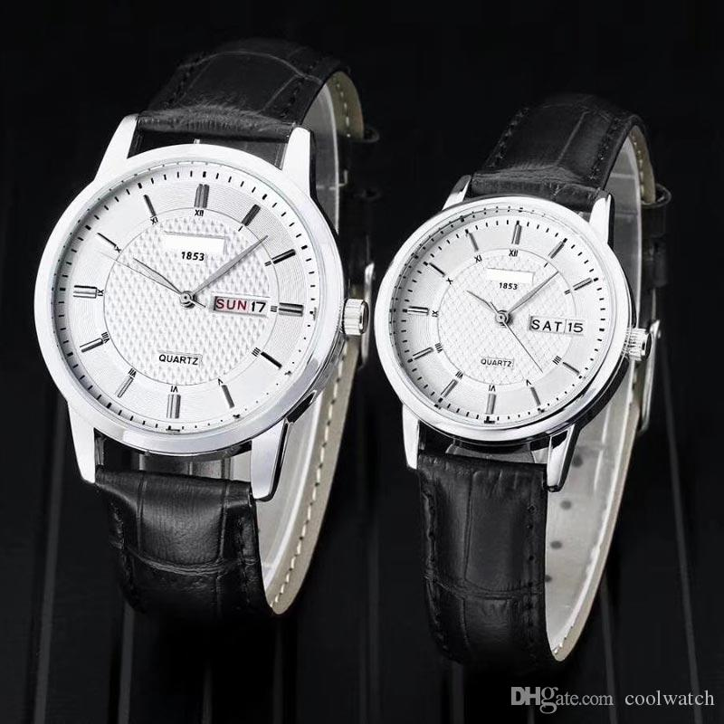2019fashion Unique Men Women Quartz Watches Cool Full Stainless Steel Couples Lovers Watch Ladies Dress Wristwatch Men Watches C 100% High Quality Materials Watches