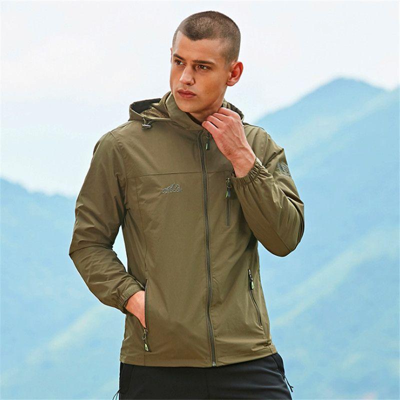 2c65444d1 Men s Hiking Jacket Windstopper Waterproof Warm Rain Coat Outdoor Sports  Camping Clothing Soft Shell Fleece Tactical Jackets