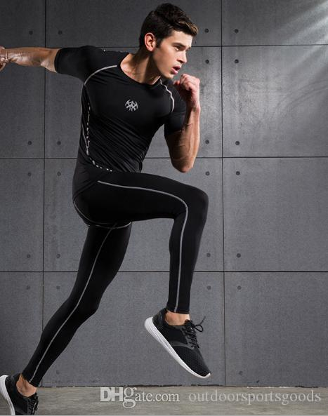 2019 New Men S Fitness Wear Gym Clothing Comfortable Tights Quick