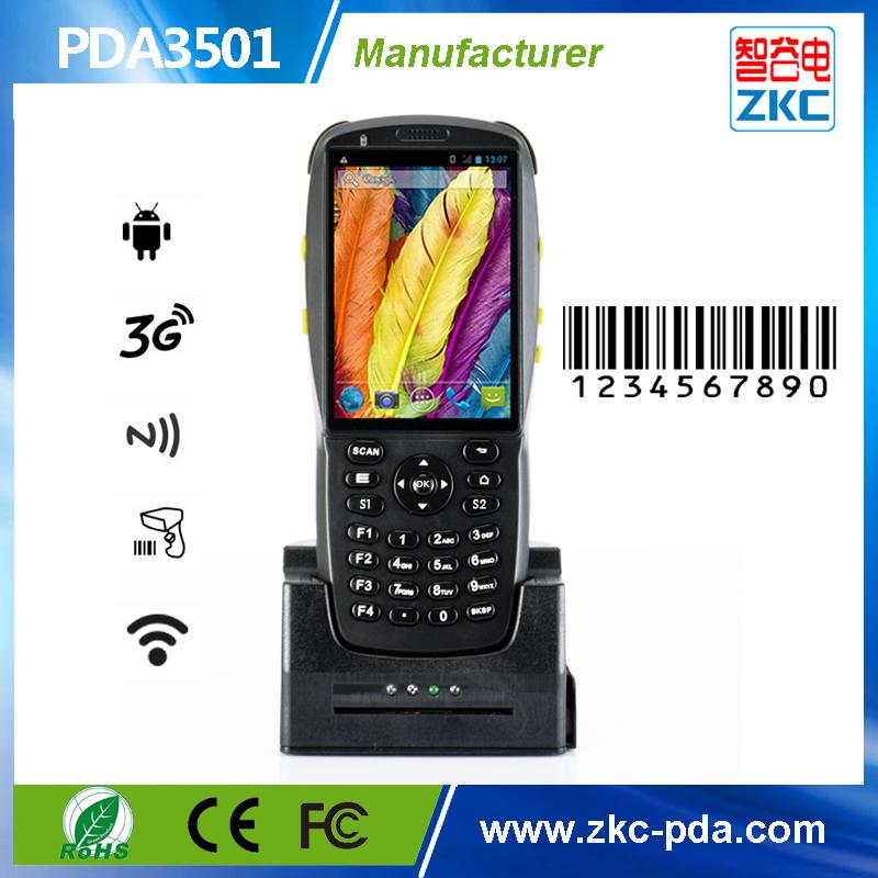 PDA3501 Rugged android barcode scanner ,Handheld android data collector  nfc/RFID reader with 3G and wifi bluetooth