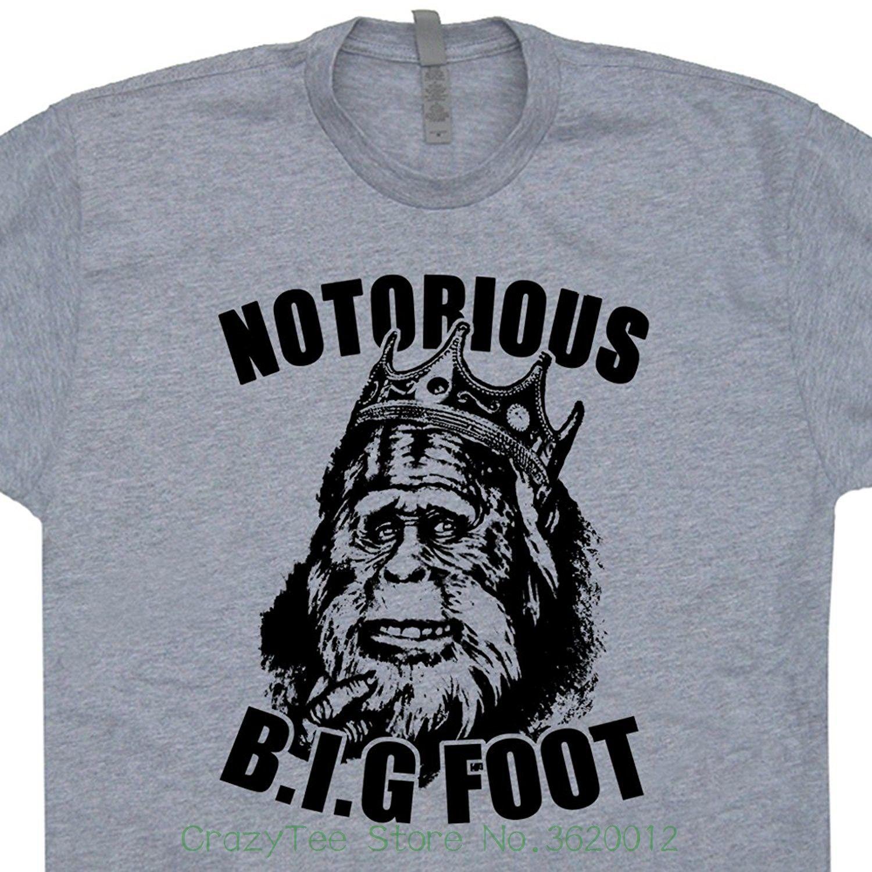 6304a2135 Funny T Shirt Men Notorious Bigfoot T Shirts Big Biggie Sasquatch Smalls  Hip Hop Cool Graphic Tee Mens Kids Shirtmandude Web T Shirts Great Tee Shirt  ...
