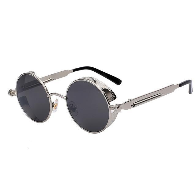 6f44498822973 Compre Novo 2018 Espelho Lente Redonda Óculos Óculos Steampunk Óculos De  Sol Do Vintage Retro Para Homens E Mulheres Hisper Eyewear De Lin556, ...