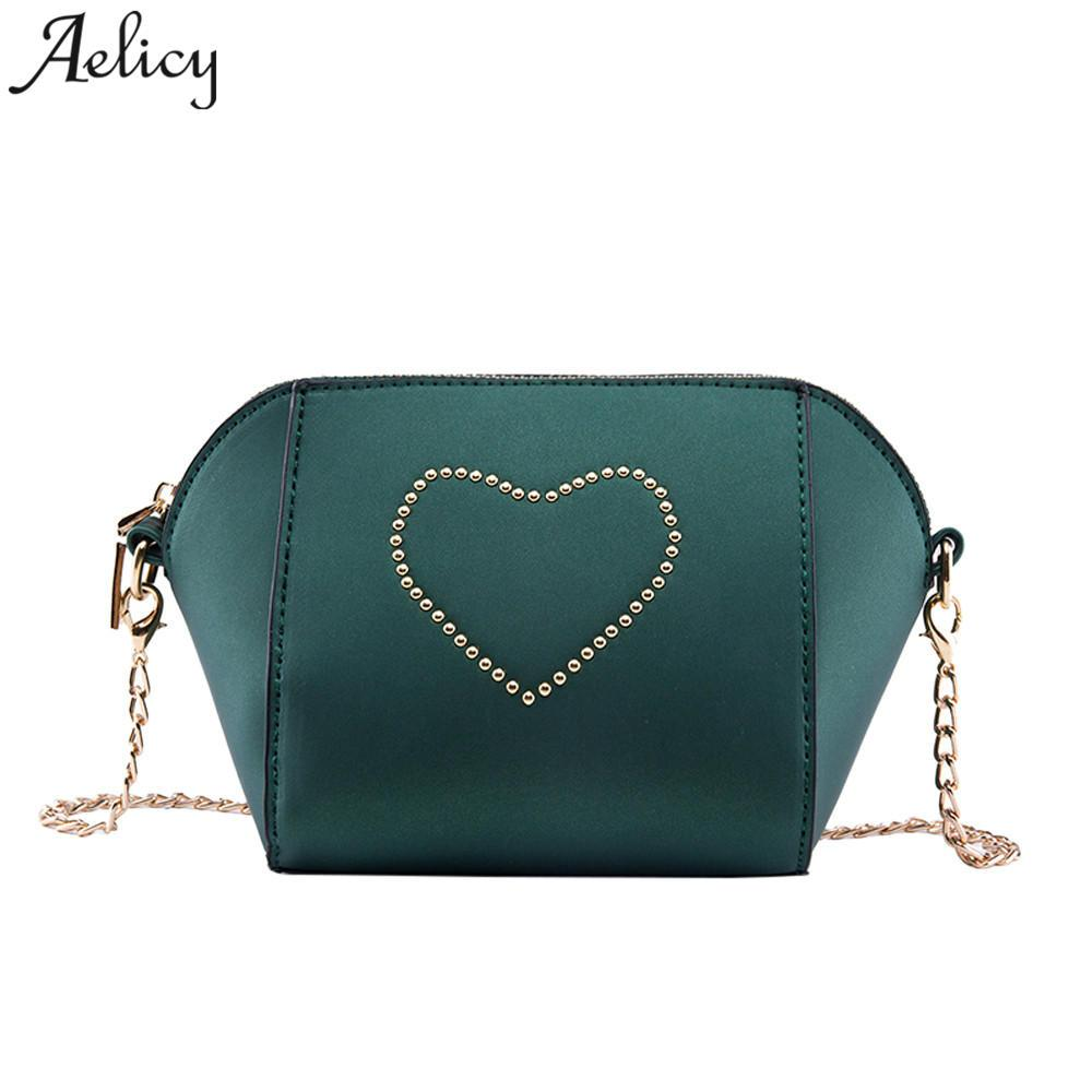 Aelicy Luxury High Quality PU Leather Women Crossbody Bags Fashion Rivet  Design Women Shoulder Bags Color Ladies Handbag Shell Cheap Shell Aelicy  Luxury ... 453263f80c81c