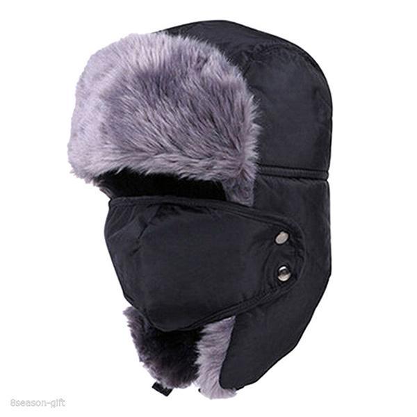 98657adb Wholesale- Men Women Winter Trapper Trooper Earflap Warm Ski Hat ...