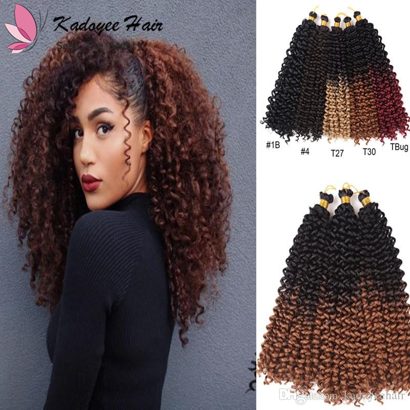 2019 Afro Braid Hair Extensions Kinky Curly Bulk Twist Crochet