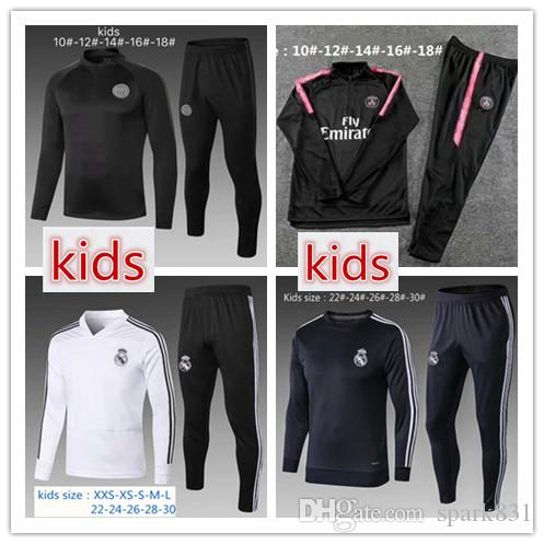 0faf961d6 2019 AAA+ Kids Real Madrid Soccer Tracksuit 18 19 ASENSIO PSG MBAPPE  Survetement Football Training Suit Chandal Jogging Child Track Sportswear  From Spark831 ...